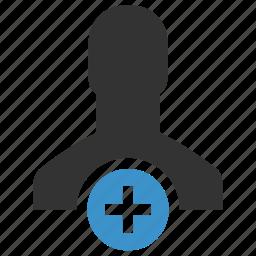 add user, avatar, men, new, person, plus, profile icon