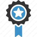 achievement, award, medal, premium, quality, ribbon, star icon