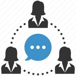 business, communication, connection, group, idea, people, speech icon