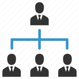 business, group, hierarchy, management, men, people, team icon
