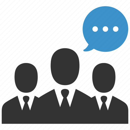 business, conversation, group, message, negotiations, speech, team icon