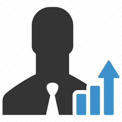 analytics, arrow, businessman, graph, growth, statistic, statistics icon
