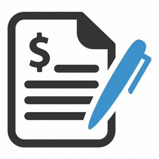 agreement, bill, business, contract, deal, finance, signature icon