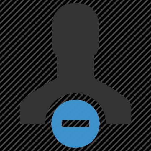 avatar, cancel, delete user, dismiss, man, person, remove icon