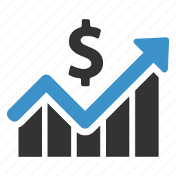 analytics, chart, dollar, earnings, graph, growth, money icon