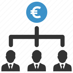 business men, earnings, euro, finance, income, salary, team icon