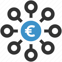crowdfunding, earnings, euro, finance, funds, investment, money icon