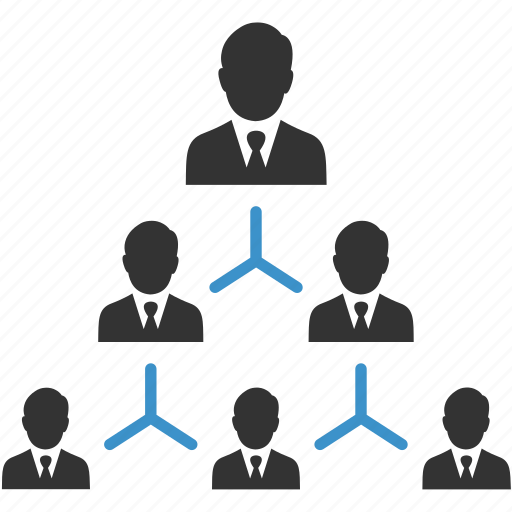 business group, connection, hierarchy, management, men, people, team icon