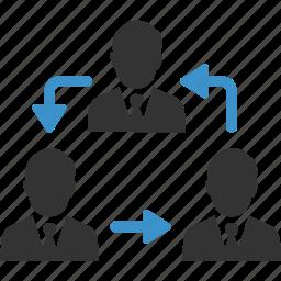 avatars, business men, change, exchange, group, human resources, swap icon