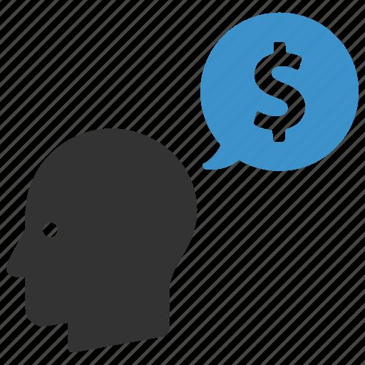 dollar, earnings, finance, idea, income, men, money icon