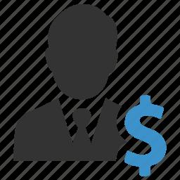 businessman, cash, dollar, finance, income, money, salary icon