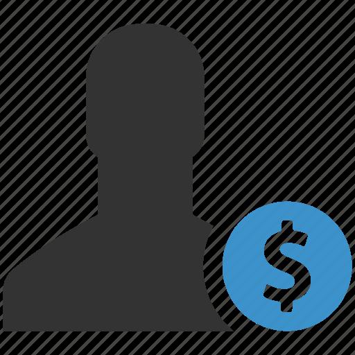 earnings, finance, income, men, money, salary, salesman icon