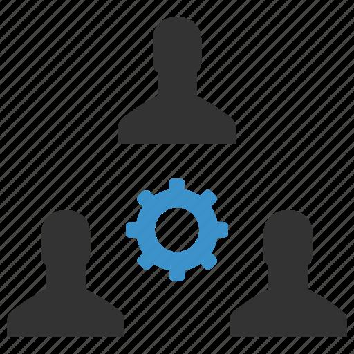 avatars, management, men, options, process, productivity, support icon