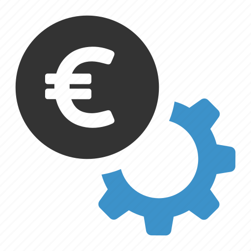 cog, euro, finance, money, options, payment, settings icon