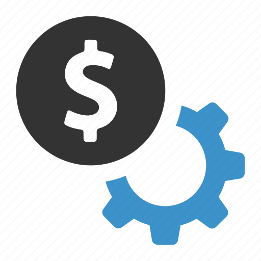cog, configure, dollar, finance, gear, money, payment options icon