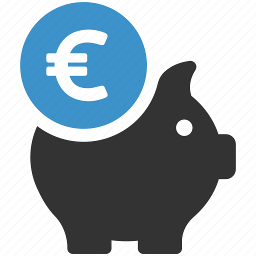 bank, euro, finance, guardar, money, pig, save, savings icon