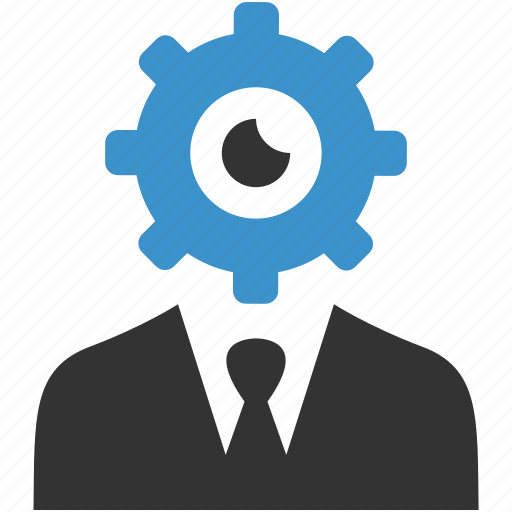 business man, cog, configure, help, process, productivity, support icon