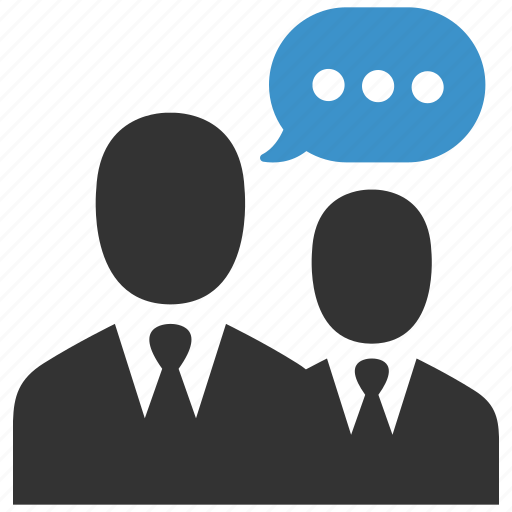 business men, chat, conversation, negotiations, people, speech, talk icon