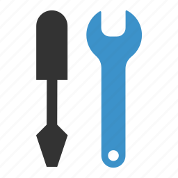 mechanic, repair, screwdriver, support, tool, tools, wrench icon