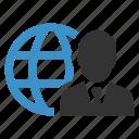 browse, global, internet, man, user, web, website icon