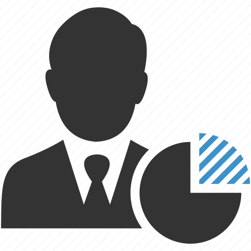 account, business, businessman, chart, graph, presentation, statistics icon