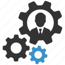 account, businessman, management, productivity, profile settings, settings, user