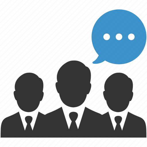 business, business people, businessmen, chat, meeting, negotiations, talk icon