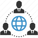 business, businessmen, global, international, internet, network, people icon