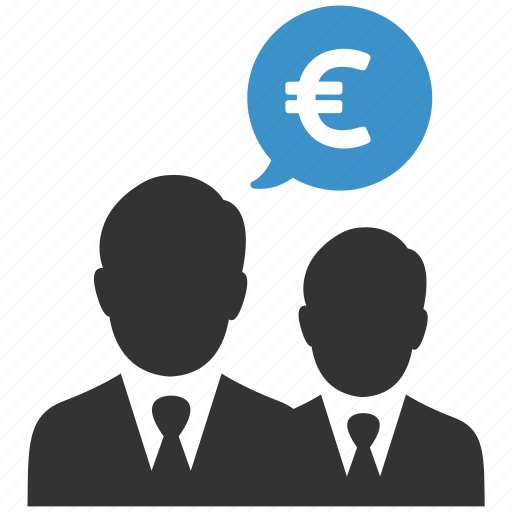 businessmen, earnings, euro, finance, money, salesmen, users icon