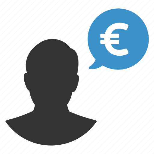 buyer, euro, finance, money, payment, person, user icon