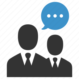business people, businessmen, communication, conversation, negotiations, talk, users icon