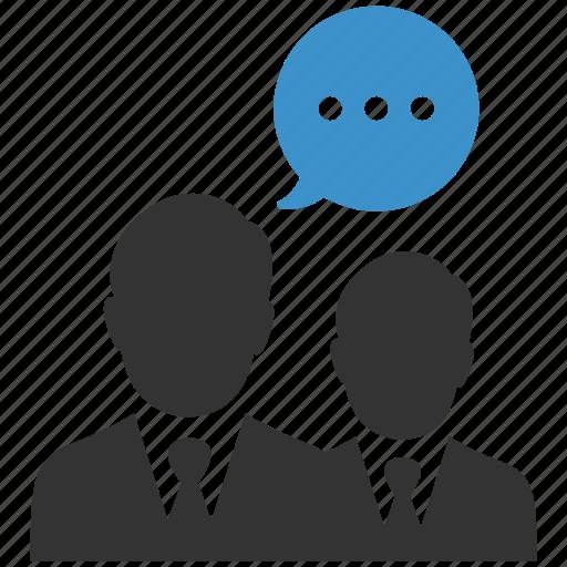 businessmen, communication, conversation, negotiations, talk, talking, users icon
