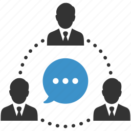 business, business people, business team, businessmen, communication, meeting, negotiations icon