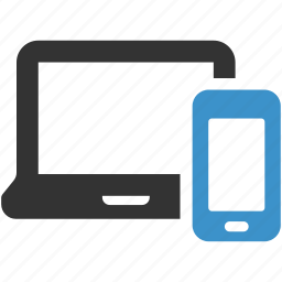 computer, connectivity, devices, laptop, phone, smartphone, technology icon