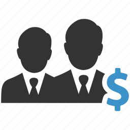 businessmen, dollar, earnings, finance, income, sales, salesmen icon