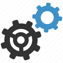 cogs, configure, finance, gears, options, settings, support icon
