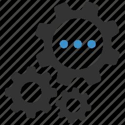 cogs, configure, gears, options, processing, productivity, progress icon
