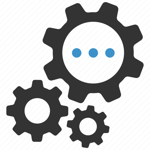 cogs, configure, gears, options, processing, productivity, progress icon