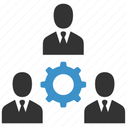 business, businessmen, cog, gear, management, people, teamwork icon