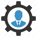 businessman, gear, management, manager, productivity, seo, settings icon