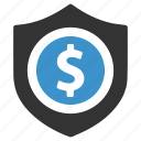bank, finance, money, payment, safe, secure, shield icon