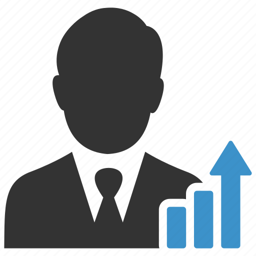 analytics, business, businessman, chart, graph, report, statistics icon