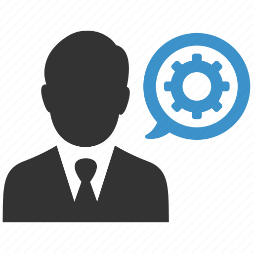 business, businessman, gear, management, manager, productivity, support icon