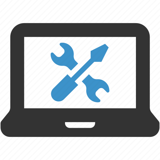computer, configure, laptop, repair, service, support, tools icon