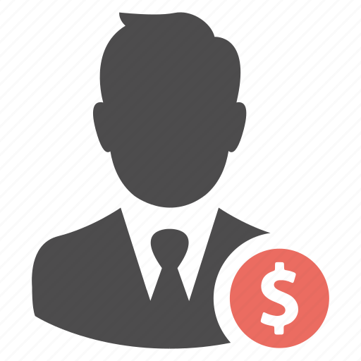 avatar, business, businessman, earnings, man, money, person, profit, salary, user icon