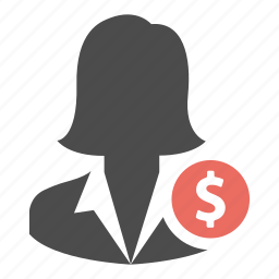 avatar, business, earnings, money, profile, user, woman icon