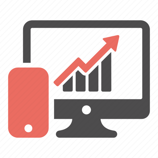business, chart, devices, growth, increase, marketing, phone icon