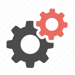 cogs, config, configuration, gears, options, preferences, settings icon