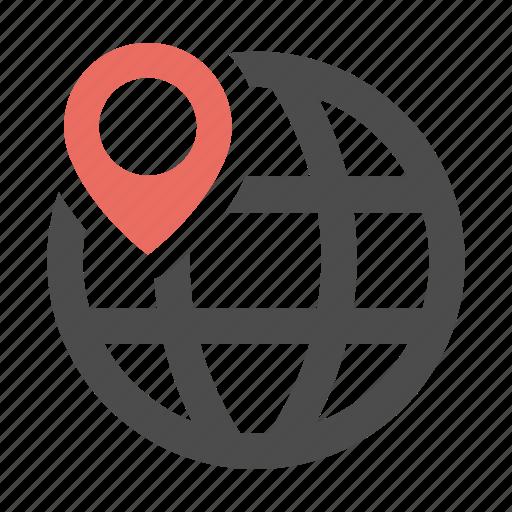 globe, gps, location, navigation, web icon
