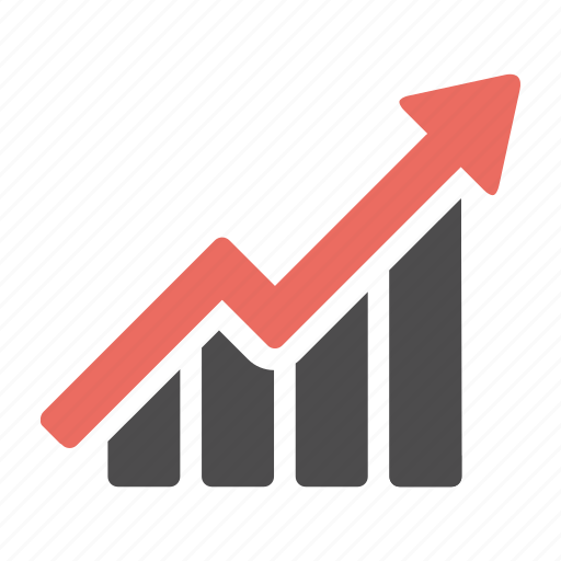 arrow, business, finance, graph, growth, increase icon